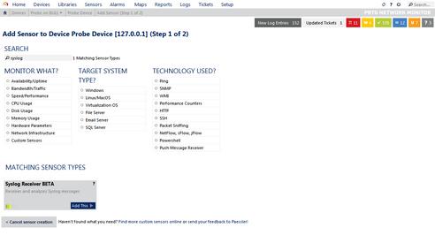 PRTG Network Monitor (HYDRA)